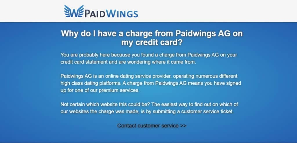 Paidwings AG Abzocke
