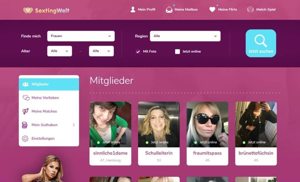 Testbericht - sextingwelt.com Mitgliederbereich