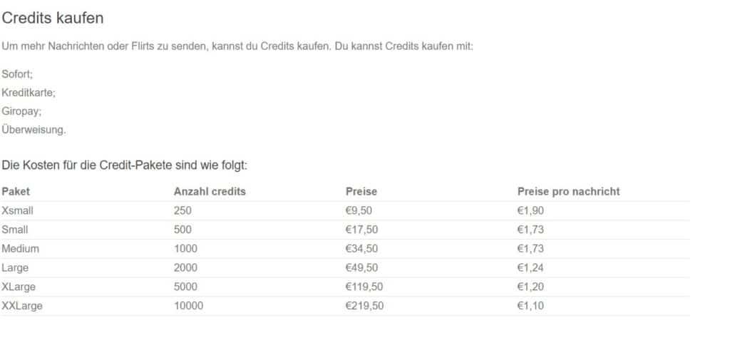 ChatApp.net - Kosten