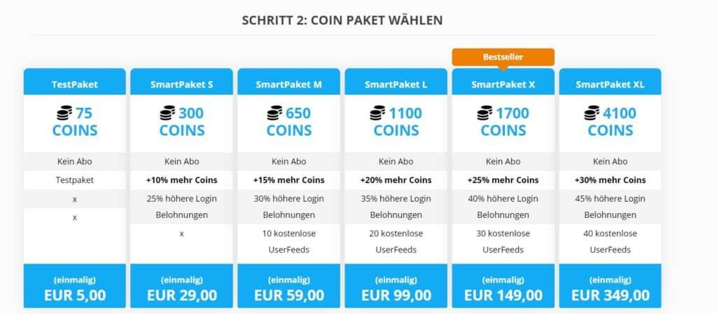 DateKiste.com - Kosten