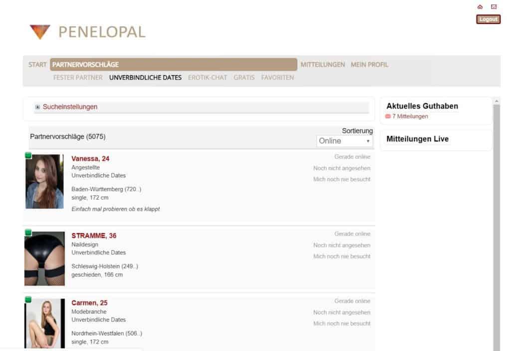 PenelOpal.com - Mitgliederbereich