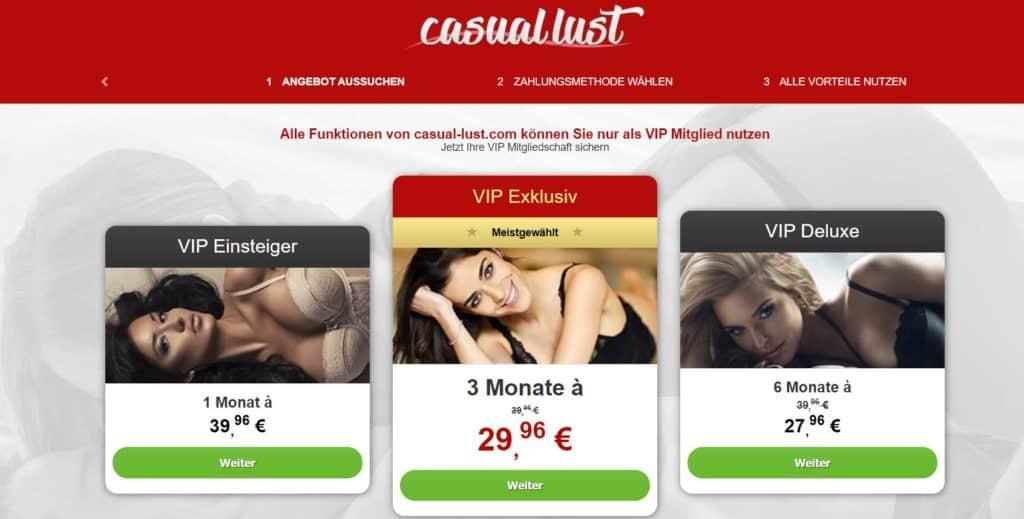 Testbericht - casual-lust.com Kosten
