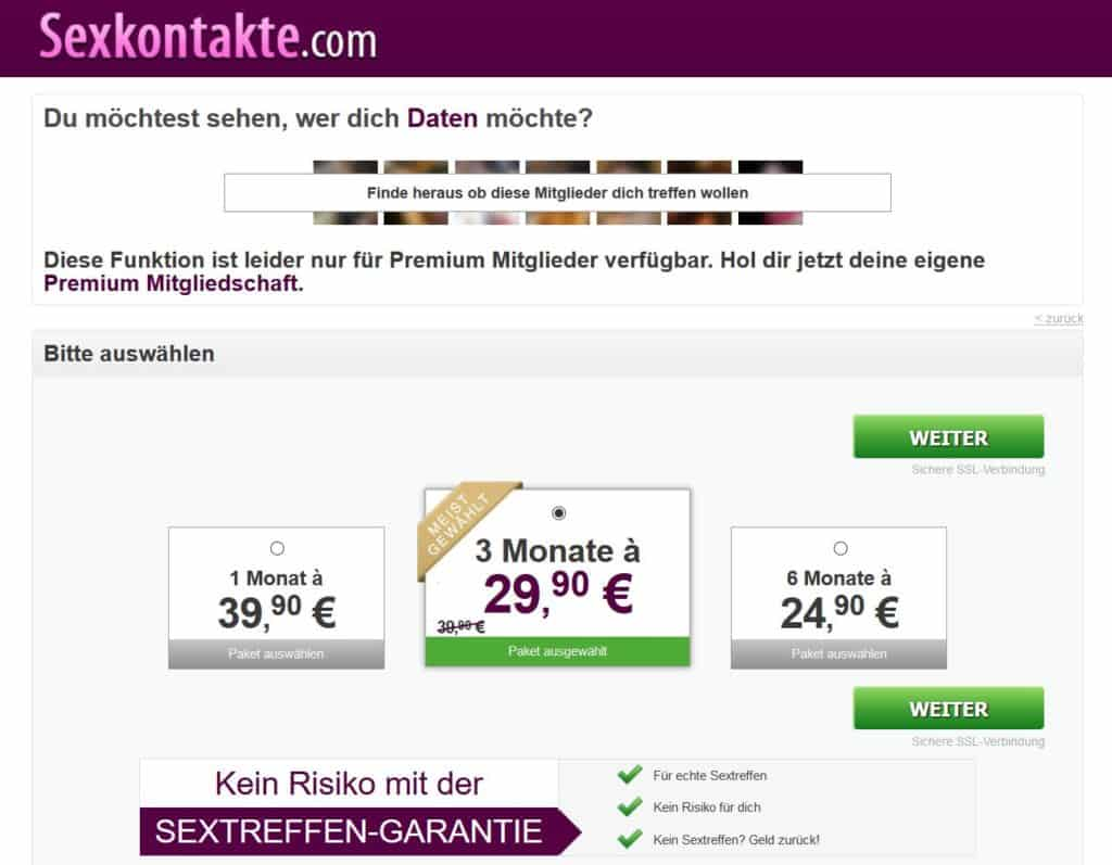 Testbericht - sexkontakte.com Kosten