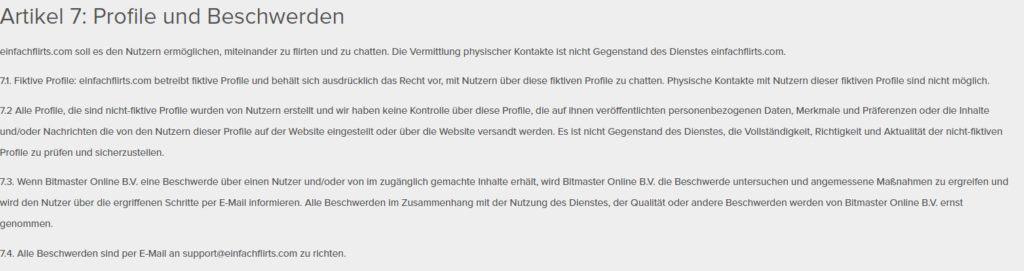 einfachflirts.com - AGB Moderatoren