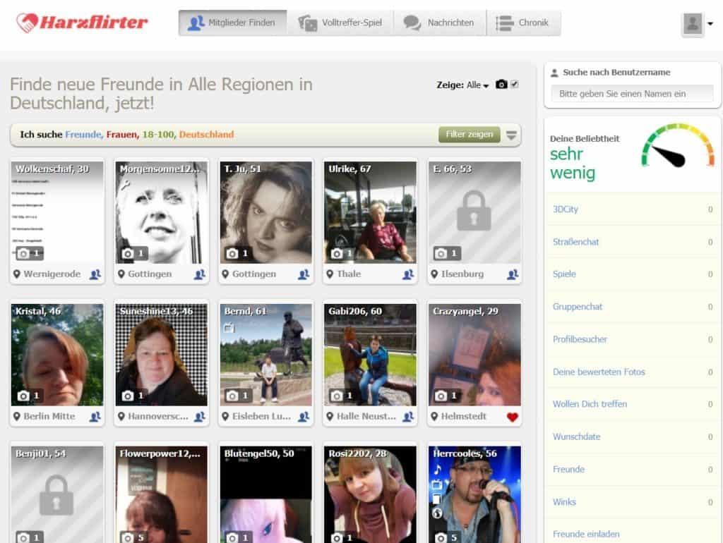 harzflirter.de - Mitgliederbereich