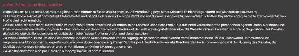 lokalelust.com - AGB Moderatoren