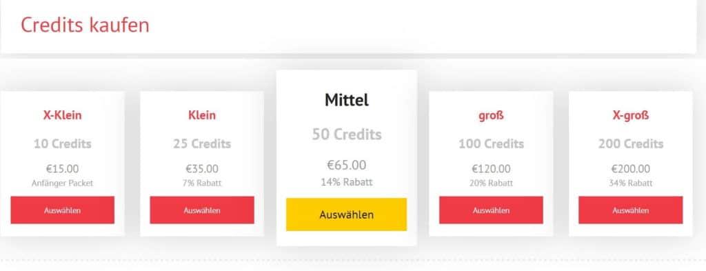 schlampeplatz.com - Kosten Credits