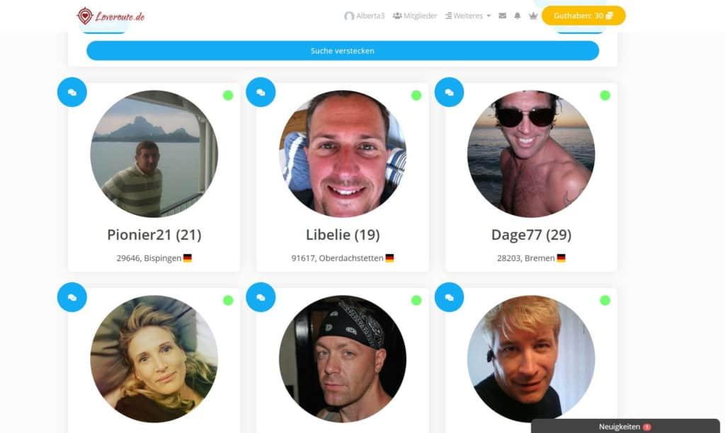Testbericht - loveroute.de Mitgliederbereich