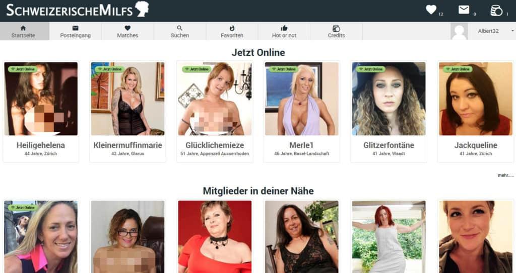 Testbericht - schweizerischemilfs.com Mitgliederbereich