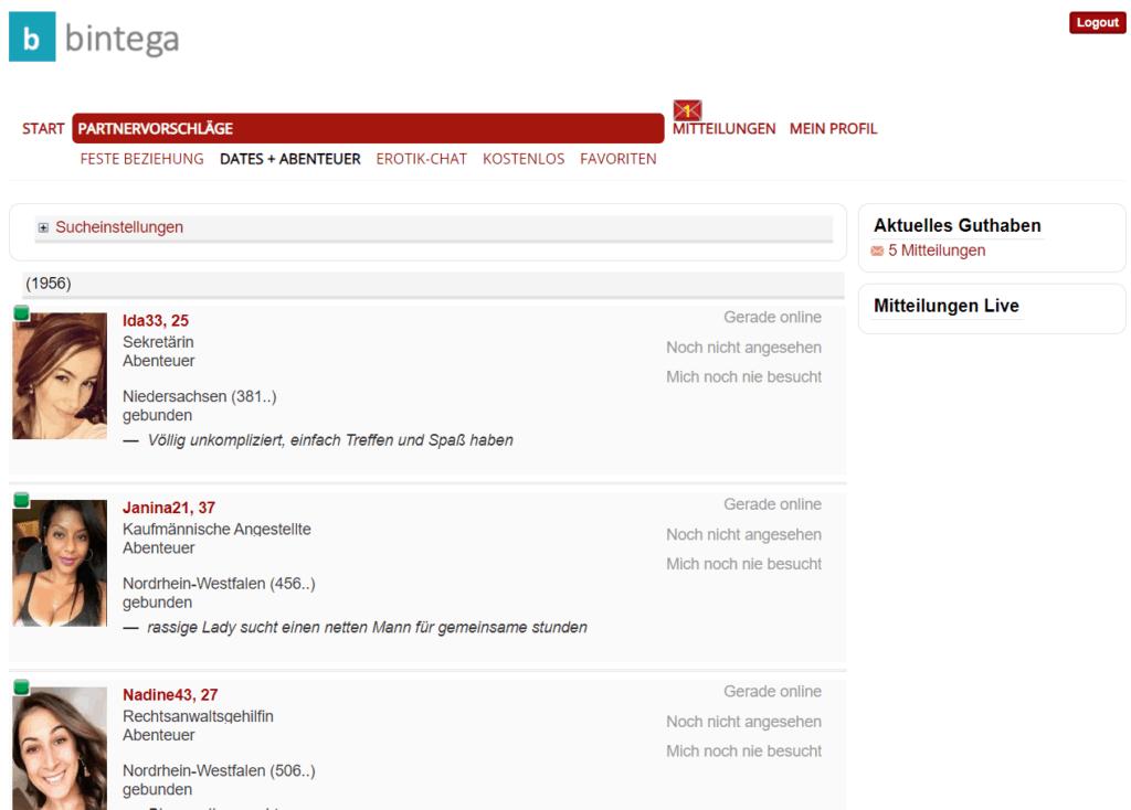 bintega.com - Mitgliederbereich