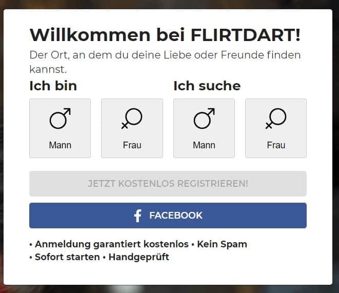 flirtdart.com - Anmeldung