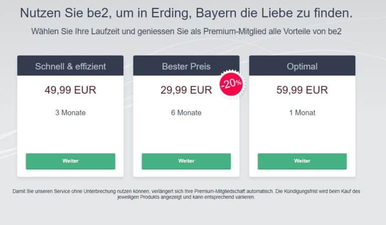 be2 - Kosten