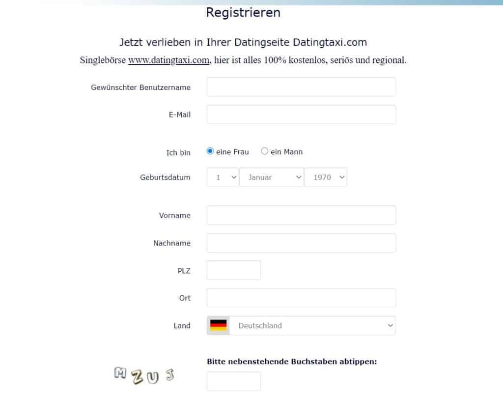 datingtaxi.com - Anmeldung