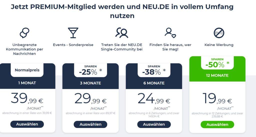 Neu.de - Kosten