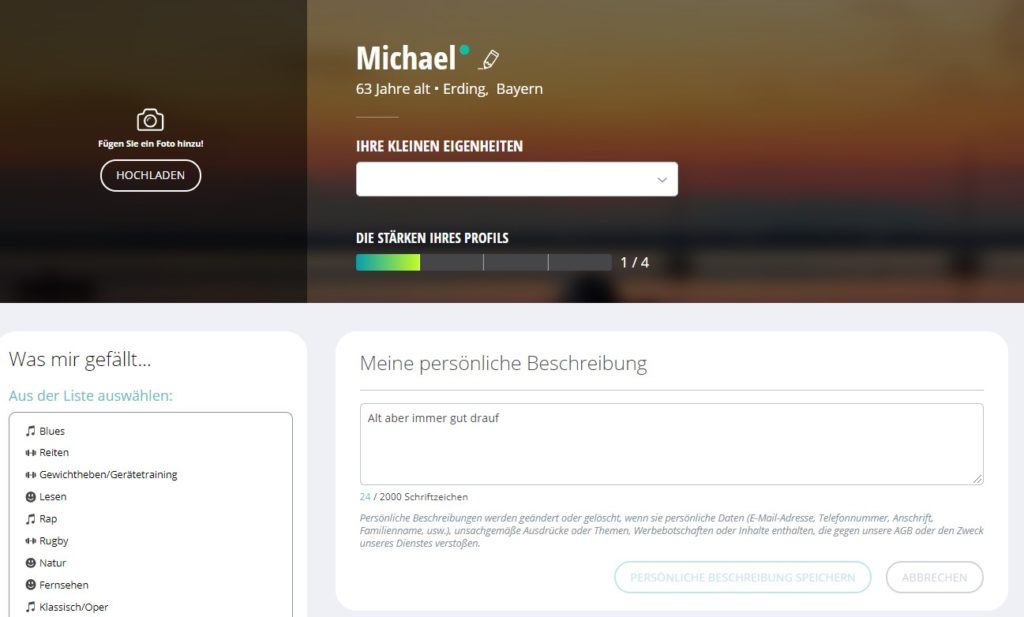Neu.de - Mein Profil