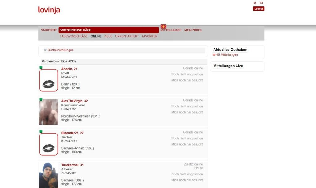 Testbericht - lovinja.com Mitgliederbereich Abzocke