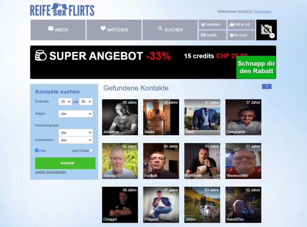 Testbericht - reifesexflirts.com Mitgliederbereich