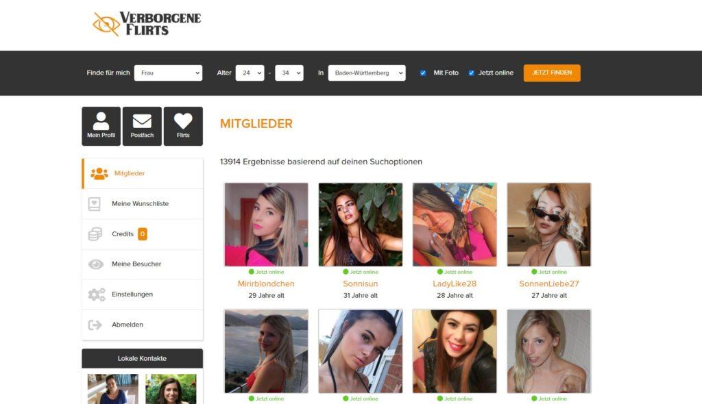 Testbericht - verborgeneflirts.com Mitgliederbereich