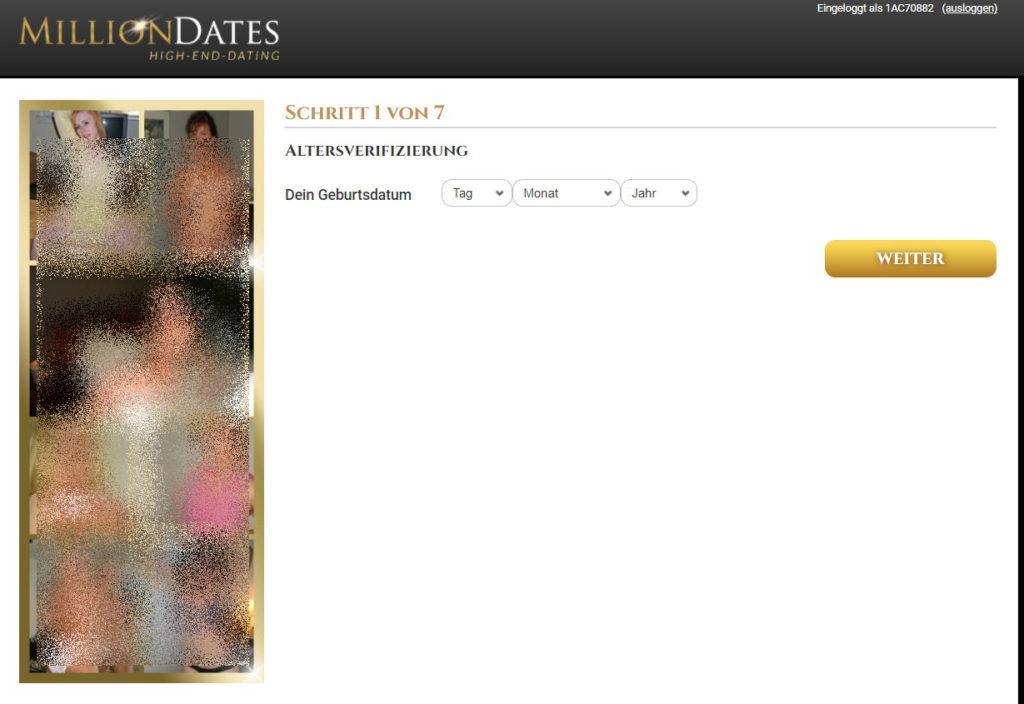 million-dates.com - Anmeldung Abzocke