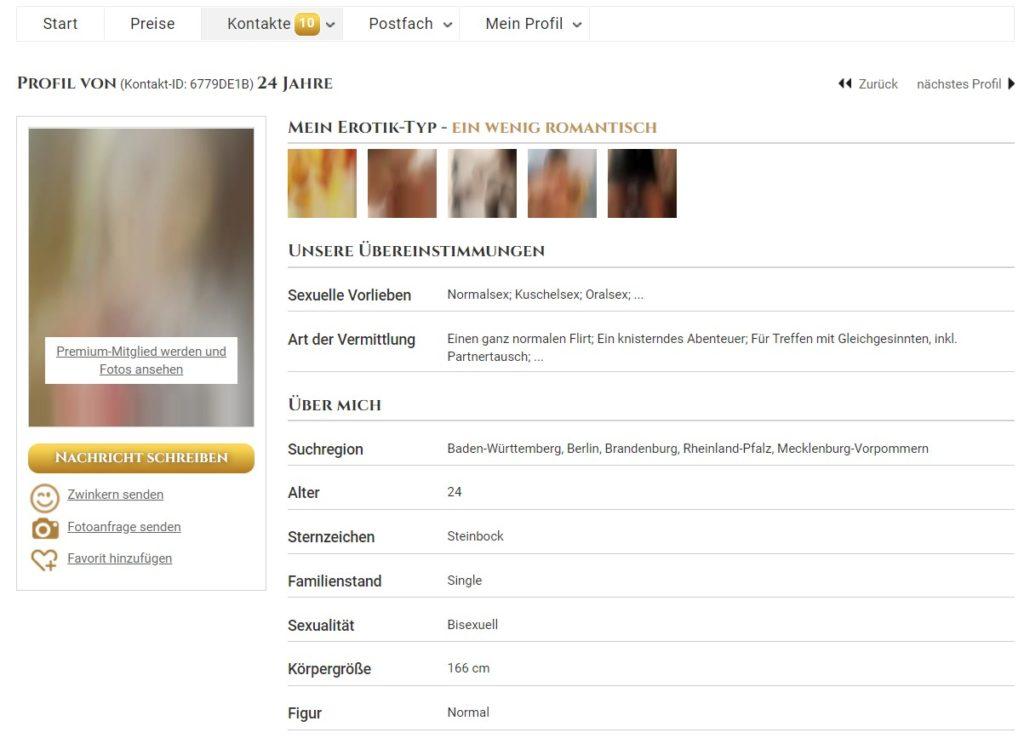 million-dates.com - Mitgliederprofil Abzocke