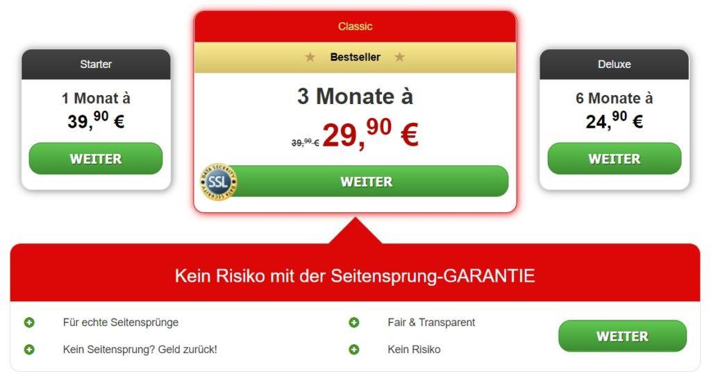 Testbericht - fremdgehen.com - Kosten