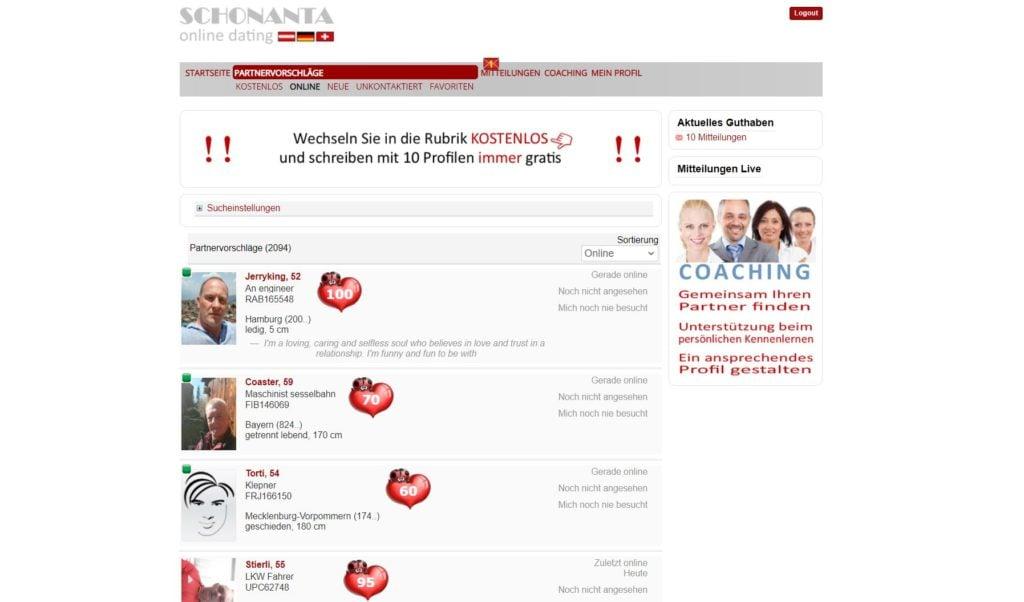 Testbericht - schonanta.com Mitgliederbereich