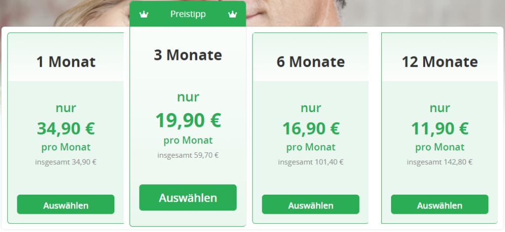 Date50.ch - Kosten