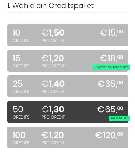 FickSieJetzt.com - Kosten