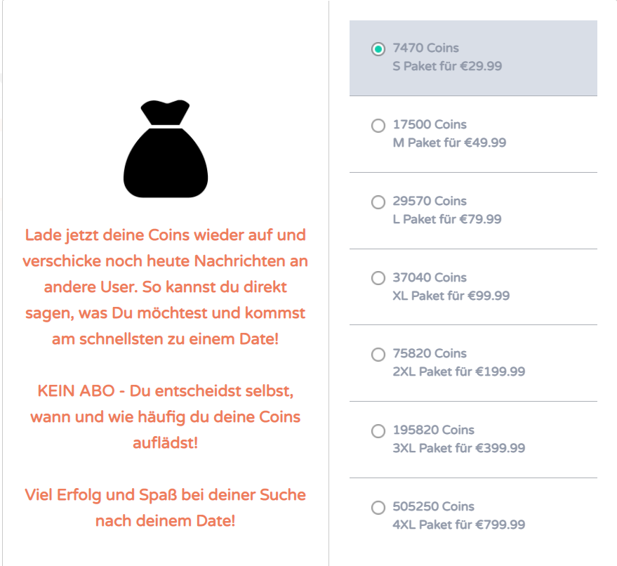GemeinsamVerlieben.de - Kosten