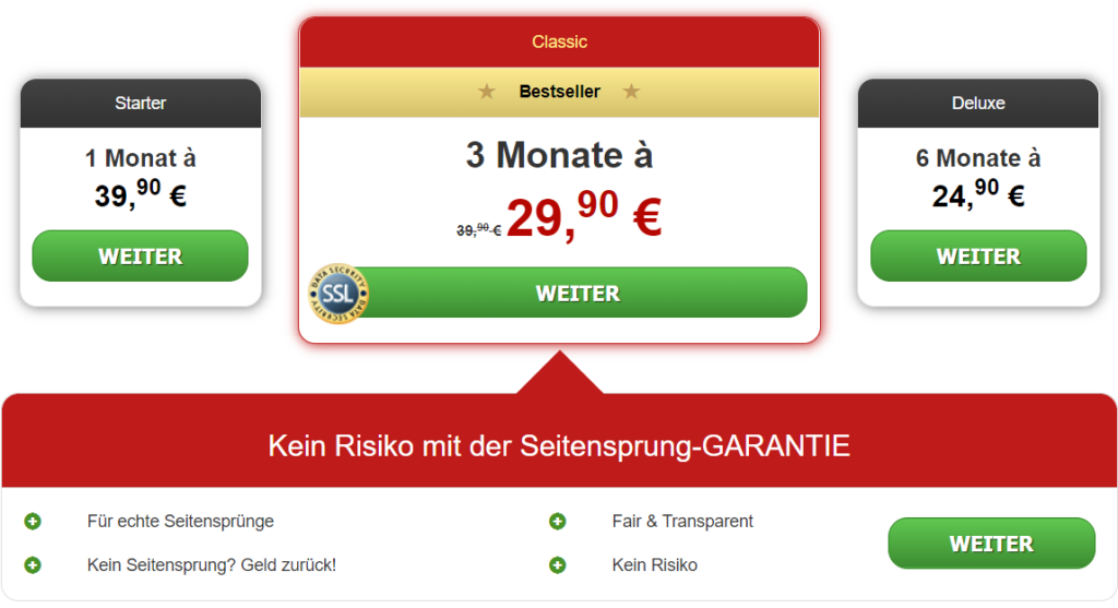 JungSuchtReif.com - Kosten