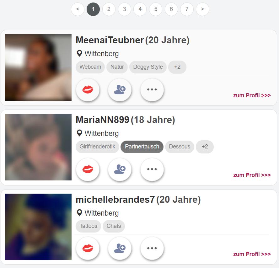 Sex-Chats.com - Mitgliederbereich