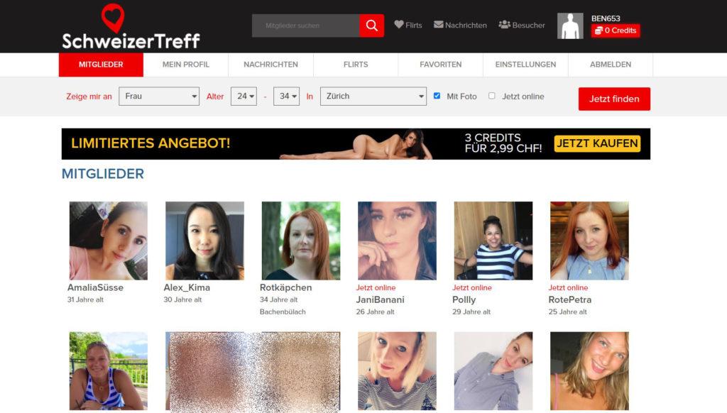 Testbericht - schweizertreff.com Mitgliederbereich