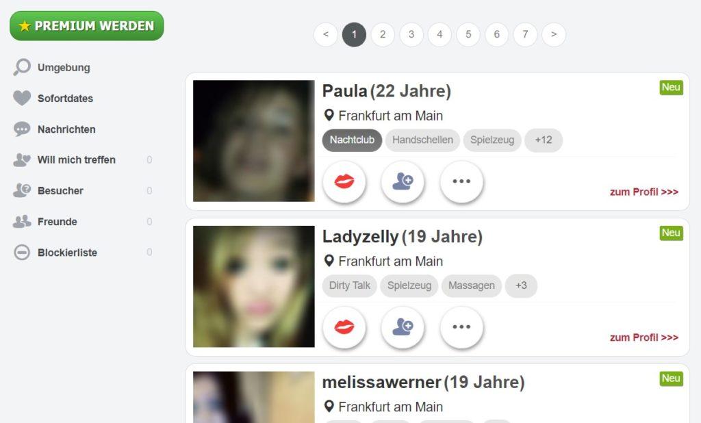 deutschesextreffen.de - Mitgliederbereich