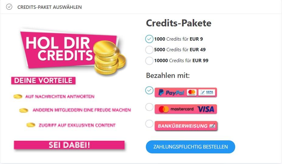 nurwirzwei.com - Kosten Credits
