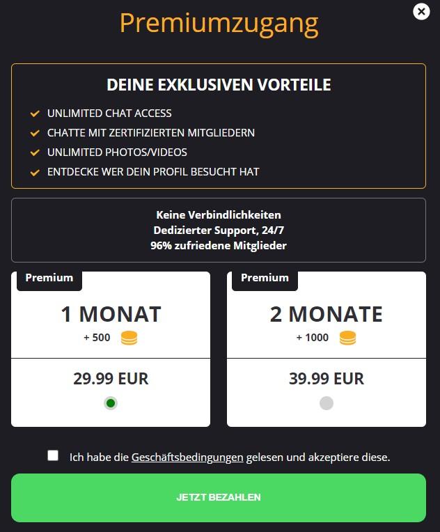 snap4sex.com - Kosten