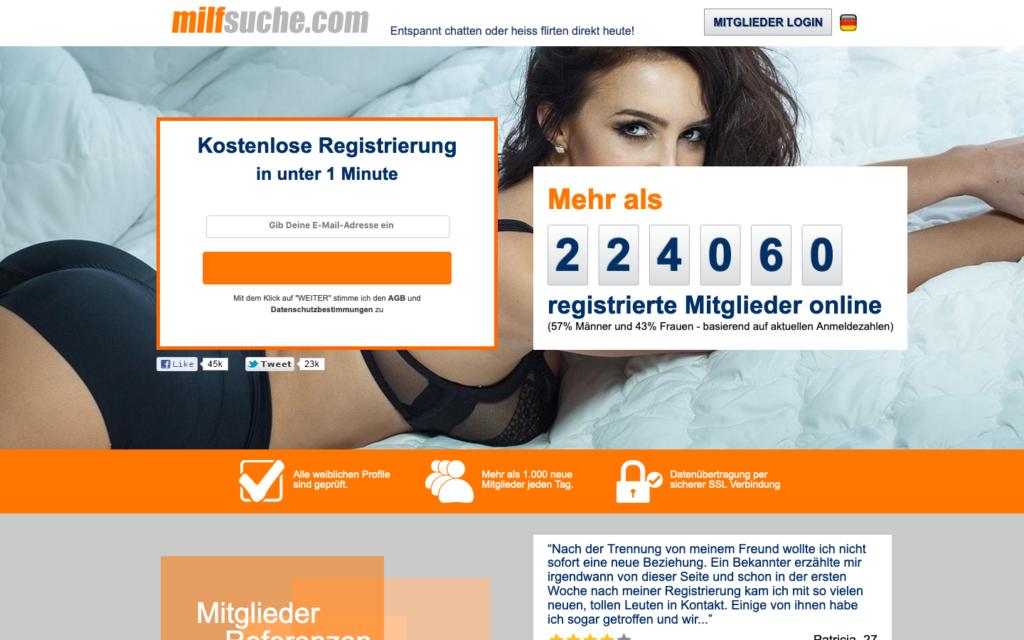 MilfSuche.com Abzocke Testberichte   Februar 2021