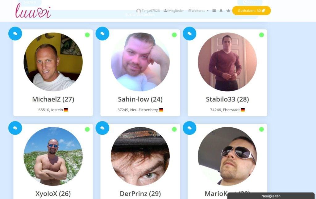 Testbericht - luuvi.de Mitgliederbereich