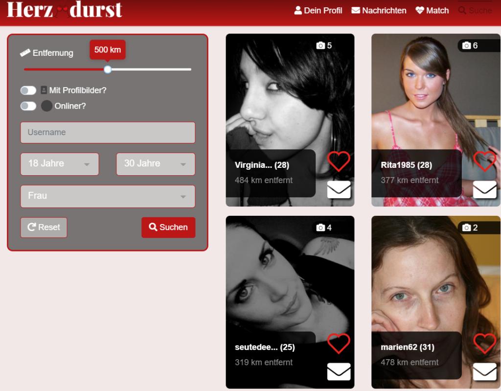 HerzDurst.de - Mitgliederbereich