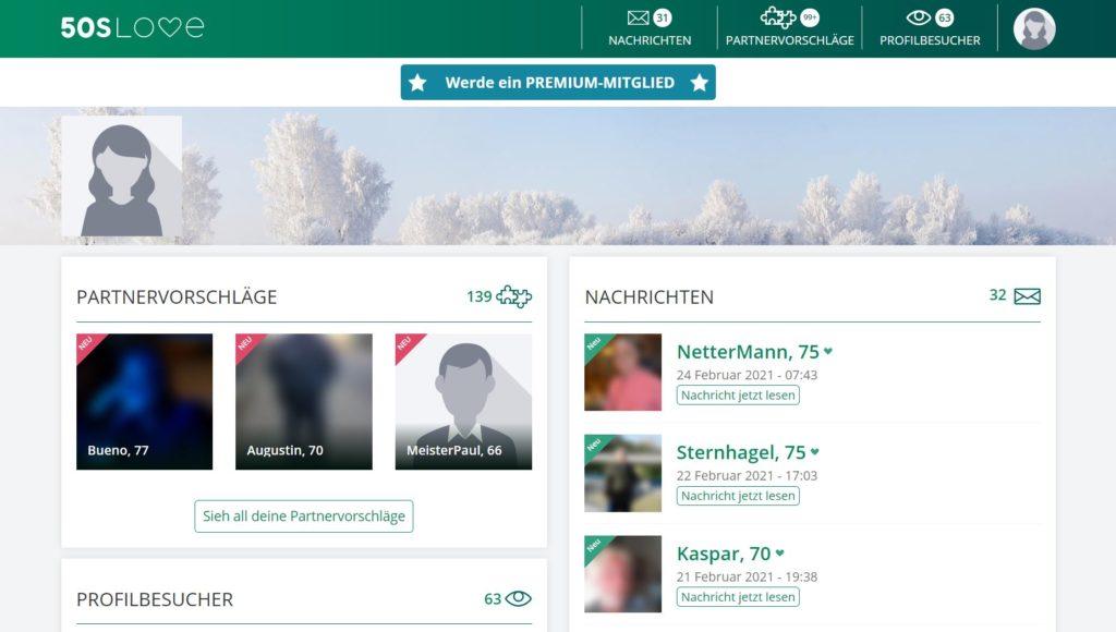 Testbericht - 50sLove.ch Mitgliederbereich