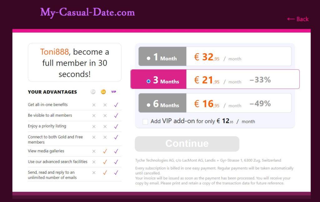 Testbericht My-Casual-Date.com Kosten