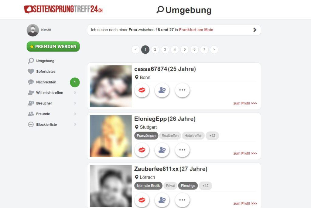 Testbericht - seitensprungtreff24.ch Mitgliederbereich