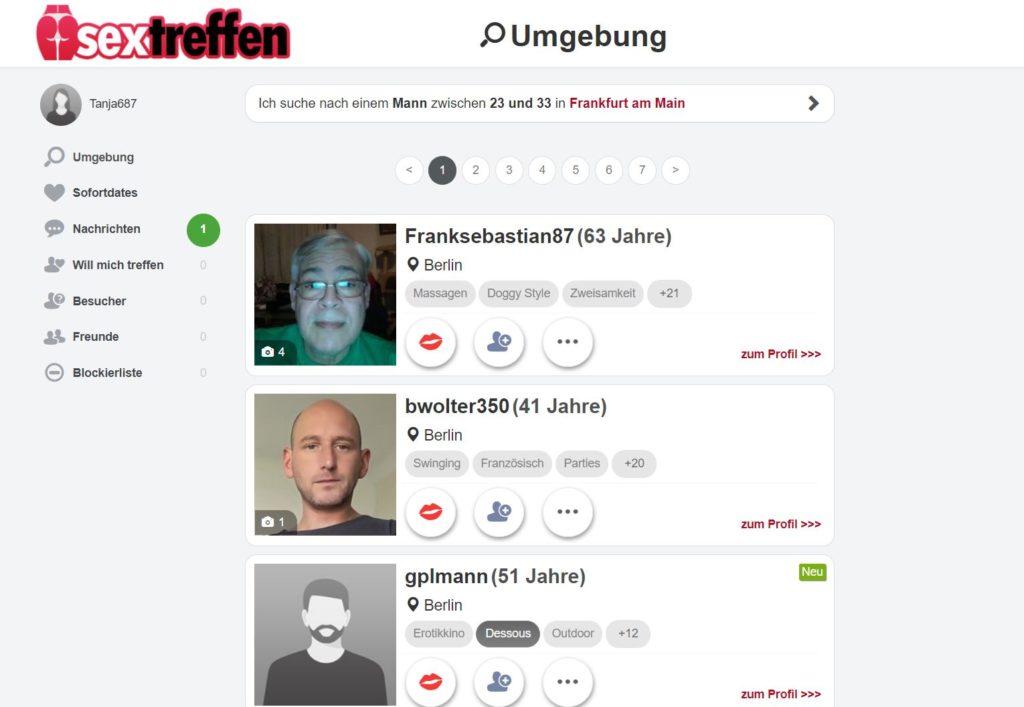 Testbericht - sextreffen.com Mitgliederbereich