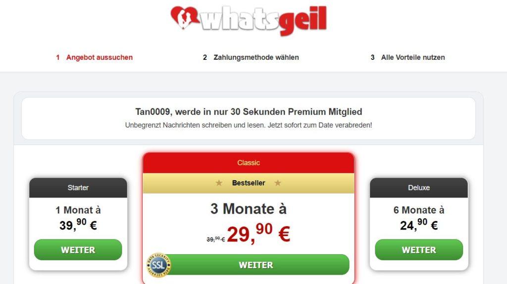 Testbericht - whatsgeil.com Kosten